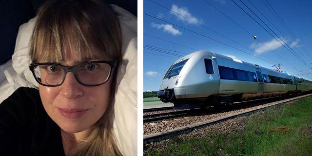 Anna Kågedal är en av de som reser med nattåget i jobbet, bilden är tagen under en resa. PRIVAT/ SJ