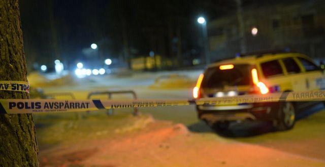 Bild från brottsplatsen.  Samuel Pettersson / TT NYHETSBYRÅN