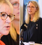 Margot Wallström, Mia Ahlberg och Lena Hallengren TT