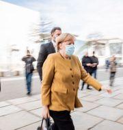 Angela Merkel anländer till Förbundsdagen i Berlin tidigare i veckan.  Christoph Soeder / TT NYHETSBYRÅN