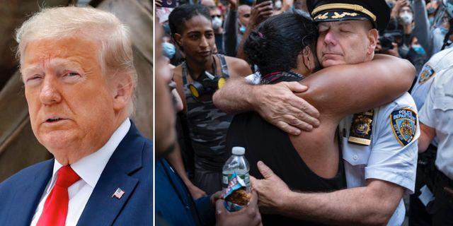 Donald Trump/en av bilderna som förekommer i kampanjvideon TT