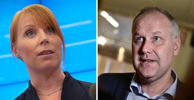 Annie Lööf och Jonas Sjöstedt. TT