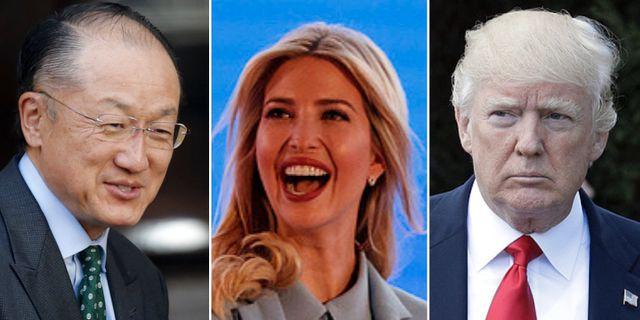 Jim Yong Kim, Ivanka Trump, Donald Trump. TT