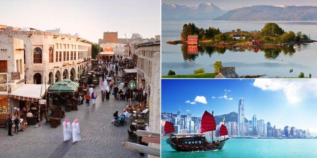 Qatar, Norge och Hongkong finns alla med på listan över världens tio tryggaste länder att turista i 2017. Getty / Wikicommons