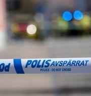 Polisavspärrning. Arkivbild. Johan Nilsson/TT / TT NYHETSBYRÅN