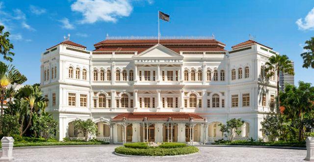 Raffles Hotel i Singapore är ett av de få stora kvarvarande 1800-talshotellen i världen. Raffles