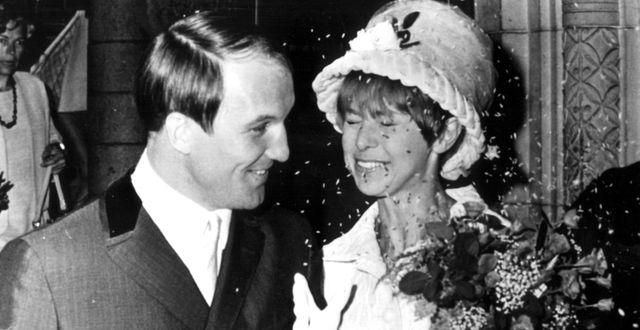 Boxaren Bosse Högberg och Anita Lindblom gifter sig 1966/Arkivbild. TT / TT NYHETSBYRÅN