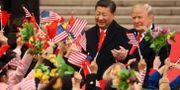 Xi Jinping och Donald Trump i Peking 2017. Andrew Harnik / TT NYHETSBYRÅN