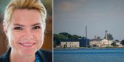 Danmarks migrationsminister Inger Støjberg/ön Lindholm. TT/ Wikipedia/Erik Christensen/CC BY 3.0