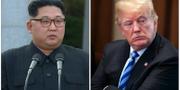 Kim Jong-Un/Donald Trump  TT Nyhetsbyrån