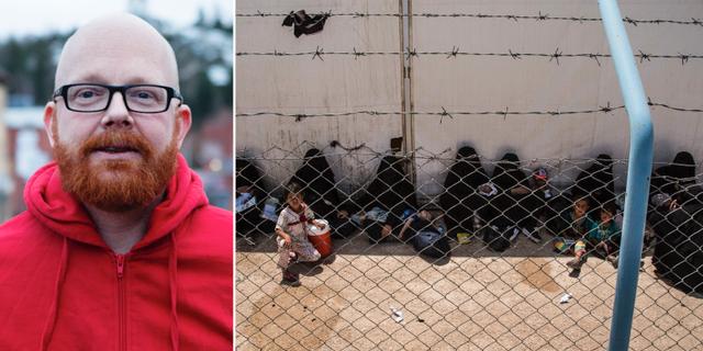 Vänster: Ola Mattsson, Rädda barnens Sverigechef. Höger: Flyktinglägret al-Holi Syrien, där flera svenska barn befinner sig.