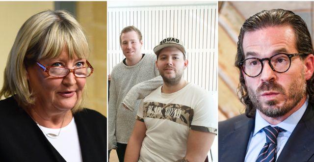 Heidenborg, bröderna Robin Dahlén och Christian Karlsson, Jovicic. Arkivbilder.  TT