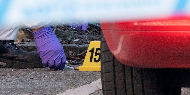 Kriminaltekniker på brottsplatsen efter mordet Johan Nilsson/TT / TT NYHETSBYRÅN