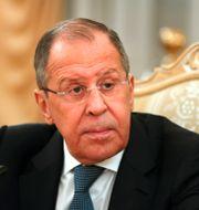 Ryssland utrikesminister Lavrov. Yuri Kochetkov / TT NYHETSBYRÅN