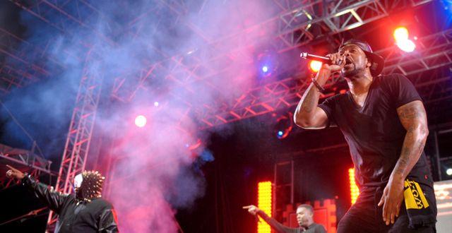 Wu-Tang Clan-medlemmarna Raekwon och Methodman. John Shearer / TT / NTB Scanpix