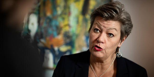 Ylva Johansson, arbetsmarknadsminister (S).  Naina Helén Jåma/TT / TT NYHETSBYRÅN