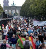 Demonstrationen i Berlin. Michael Sohn / TT NYHETSBYRÅN