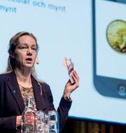 Vice riksbankschef Cecilia Skingsley presenterade planerna på en så kallad e-krona, arkivfoto. Lars Pehrson/SvD/TT / TT NYHETSBYRÅN
