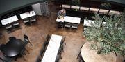 En ensam lunchgäst i Kungshallen i slutet av mars.  Henrik Montgomery/TT / TT NYHETSBYRÅN