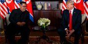 Arkivbild: Donald Trump och Kim Jong-Un träffades i Singapore i mitten av juni i år.  Evan Vucci / TT / NTB Scanpix