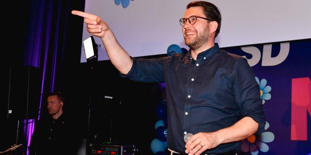 SD:s partiledare Jimmie Åkesson. Arkivbild. Anders Wiklund/TT / TT NYHETSBYRÅN