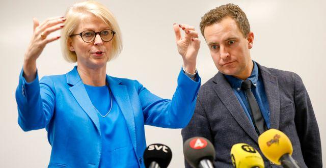 Moderaterna Elisabeth Svantesson och Tomas Tobé. Christine Olsson/TT / TT NYHETSBYRÅN