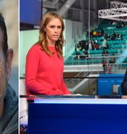 Roberto Vacchi/Karin Frick och Peter Forsberg i Discoverys OS-sändingar. TT