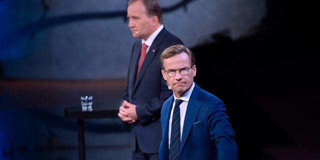 Stefan Löfven (S) och Ulf Kristersson (M). Arkivbild. Anders Wiklund/TT / TT NYHETSBYRÅN