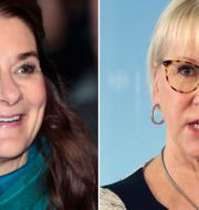Melinda Gates, Margot Wallström. Arkivbilder.  TT