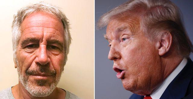 Jeffrey Epstein/Donald Trump AP