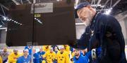 Rikard Grönborg i Tre Kronors färger. JOEL MARKLUND / BILDBYRÅN
