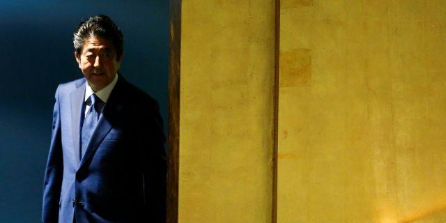 Japans premiärminister Shinzo Abe talade inför FN:s generalförsamling på tisdagen.  EDUARDO MUNOZ / TT NYHETSBYRÅN