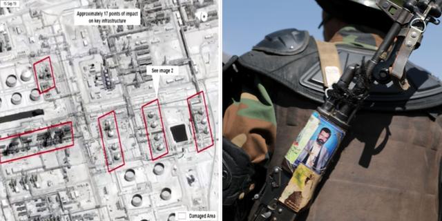 Skiss över attackerna i Saudiarabien/huthirebell. TT