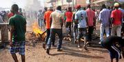 Protester i Conakry den 21 februari.  CELLOU BINANI / AFP