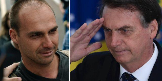 Eduardo Bolsonaro / Jair Bolsonaro. TT