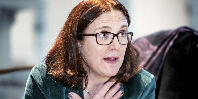 Cecilia Malmström. TT.