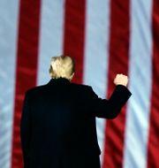 Donald Trump under ett framträdande i Georgia.  Brynn Anderson / TT NYHETSBYRÅN