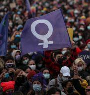 Bild från en tidigare demonstration i mars. Emrah Gurel / TT NYHETSBYRÅN