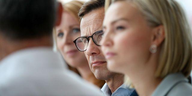 Ulf Kristersson, Ebba Busch Thor och Annie Lööf.  Adam Ihse/TT / TT NYHETSBYRÅN