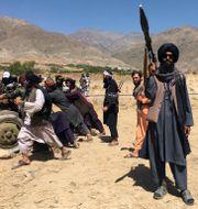Talibaner i Panjshirdalen. Mohammad Asif Khan / TT NYHETSBYRÅN