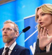 Jakob Forssmed och Ebba Busch  Thommy Tengborg/TT / TT NYHETSBYRÅN