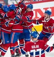 Montreal firar vinnarmålet.  Ryan Remiorz / TT NYHETSBYRÅN