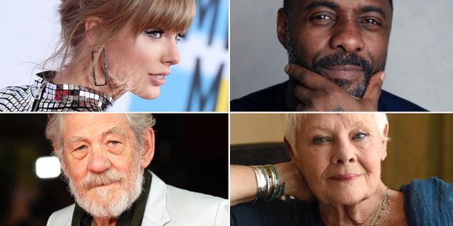 Taylor Swift, Idris Elba, Ian McKellen och Judi Dench. TT