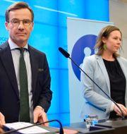 Ulf Kristersson och Maria Malmer Stenergard. Anders Wiklund/TT