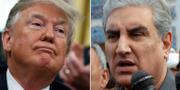 Donald Trump och Pakistans utrikesminister Shah Mehmood Qureshi  TT