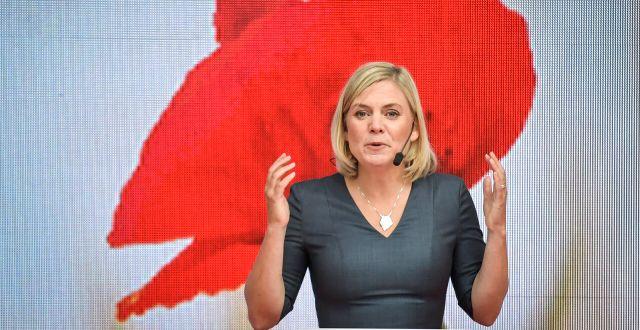 Finansminister Magdalena Andersson (S) under Almedalen. Janerik Henriksson/TT / TT NYHETSBYRÅN