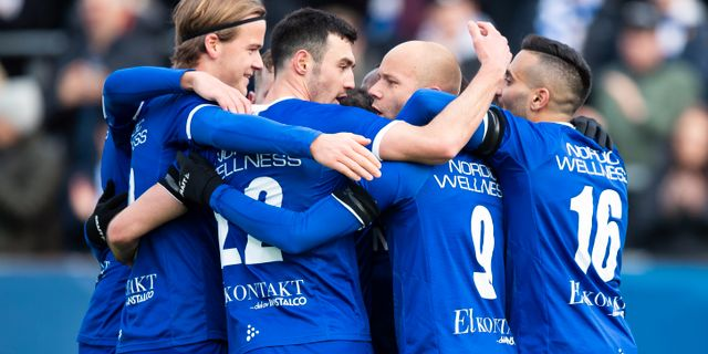 IFK Göteborgs spelare under matchen mot Sirius. MICHAEL ERICHSEN / BILDBYRÅN