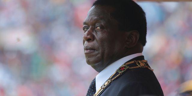 Zimbabwes president Emmerson Mnangagwa som efterträdde Robert Mugabe. Tsvangirayi Mukwazhi / TT / NTB Scanpix