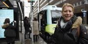 Drive Swedens ordförande Catharina Elmsäter-Svärd på plats när projektet Autopiloten inviger linje med självkörande bussar i Kista. Marko Säävälä /TT / TT NYHETSBYRÅN