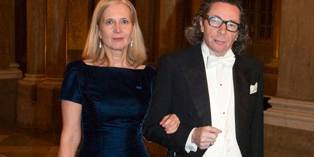 Jean-Claude Arnault (t.h.) och hans fru Katarina Frostenson.  HENRIK MONTGOMERY / TT / TT NYHETSBYRÅN